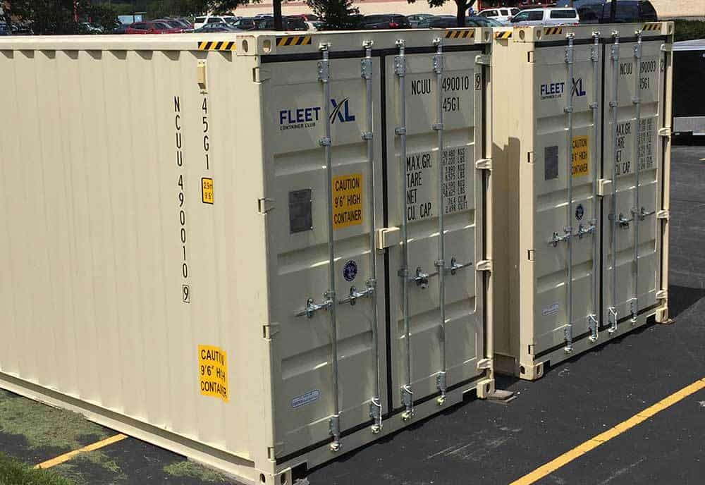On Site Storage Container Rental FleetXL